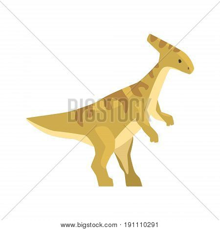 Cartoon parazavrolofus character, Jurassic period animal vector Illustration isolated on a white background