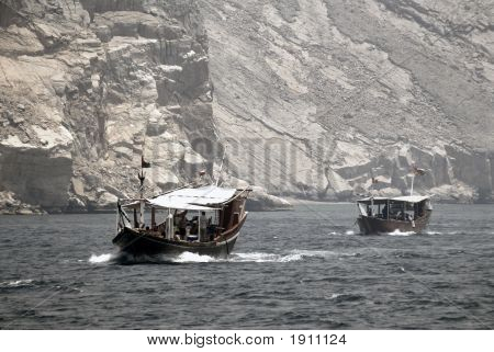 Arabic Dhows In A Valley