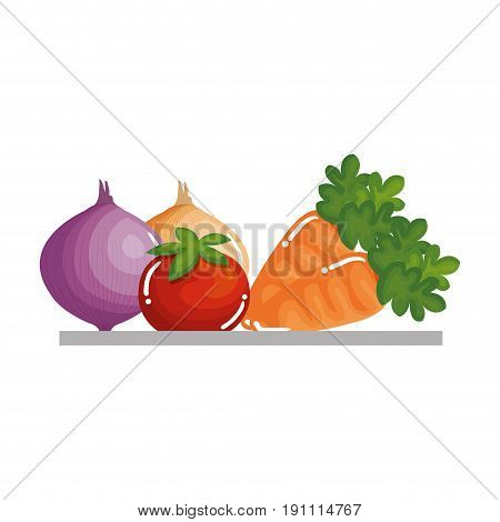 tray with vegetables icon vector illustration design
