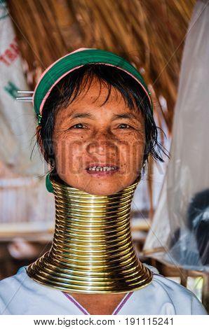 Long Neck Woman Near Chiang Mai, Thailand