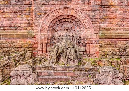 Barbarossa Monument In Thuringia, Germany