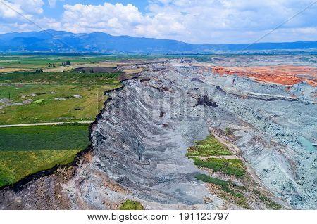 Landslide In Lignite Mine Of Amyntaio, Florina, Greece