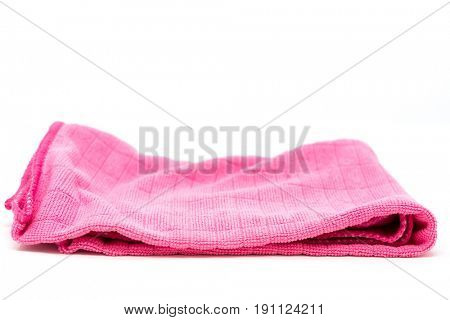 cleaning rag isolated on white background