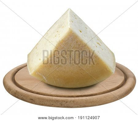 cheese on wooden tray