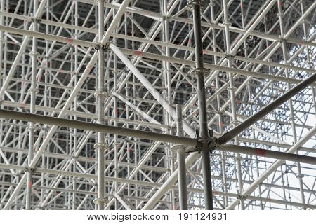 great scaffolding for a new construction site