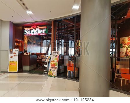 BANGKOK THAILAND - MARCH 30 : Sizzler Restaurant at Central Chaengwattana department store on March 30 2017 in Bangkok Thailand.