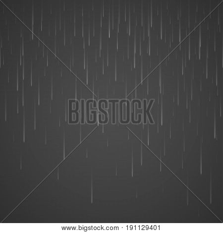 Transparent rain drops isolated on abstract background. Storm raindrop illustration. Vector rainy drop effect eps10