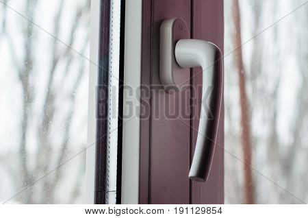 Close-up Of The Window Handle
