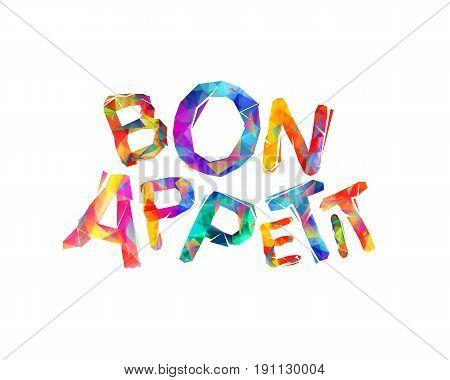 Bon Appetit. Triangular Letters