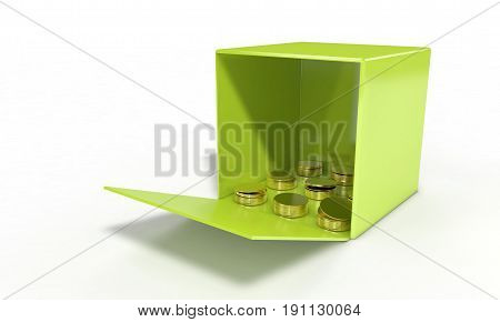 Money Case Concept Of Background, 3D Render