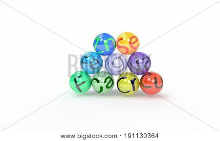 Vitamin Beads Concept Of Background, 3D Render