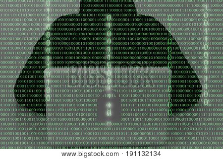Hacker Wearing A Hooded Top Using Laptop Computer In The Dark. The Man Breaks The Access To Steal In