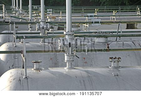 Tanks In The Storage Of Flammable Materials Of The Industrial Pl