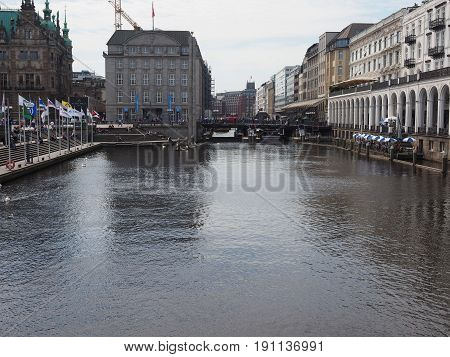 Kleine Alster In Hamburg