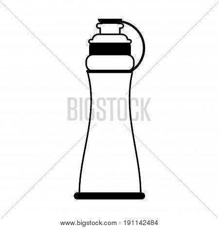 sports bottle icon image vector illustration design  single black line