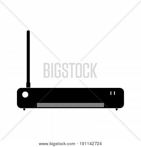 Router The Black Color Icon .