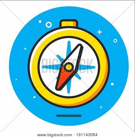 compass icon illustration design graphic art vector