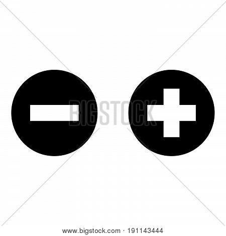 Add Sign And Delete Sign The Black Color Icon .