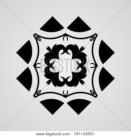 Vector Ornamental Abstract Logo For Backgrounds, Logos, Stickers, Labels, Tags And Other Design.