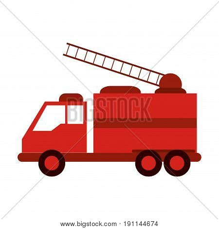 Fire truck puts out fire illustration vector design graphic icon