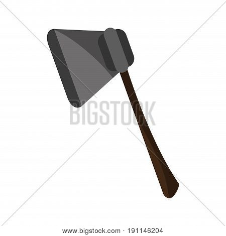 Ax felling trees icon vector illustration design graphic shadow