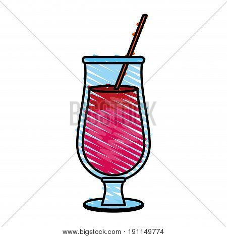 Refreshing liquor cocktail illustration icon vector graphic design scribble