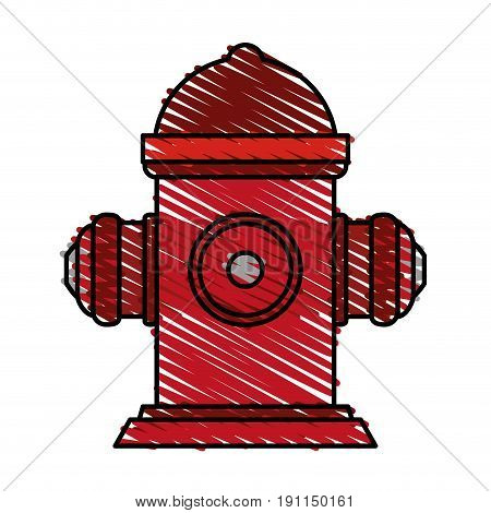 Fire hydrant use icon vector illustration desing graphic scribble