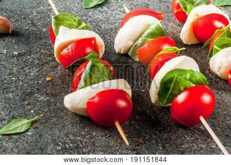 Salad Caprese On Skewers