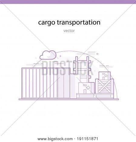 Rail transportation of particularly heavy and bulky goods in containers.  Containers, boxes and boxes for cargo transportation line