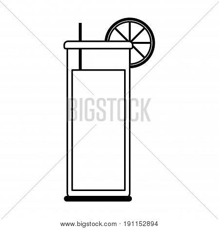 Refreshing liquor cocktail illustration icon vector graphic design silhouette