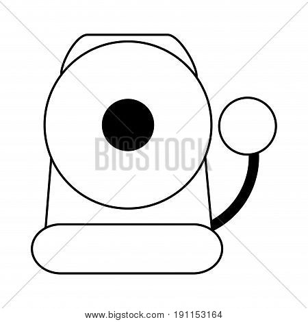Fire warning alarm icon vector illustration design graphic silhouette