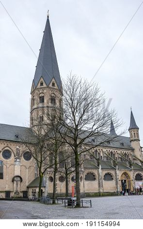 The Bonn Minster is a Roman Catholic church in Bonn Germany. It is one of Germany's oldest churches having been built between the 11th and 13th centuries
