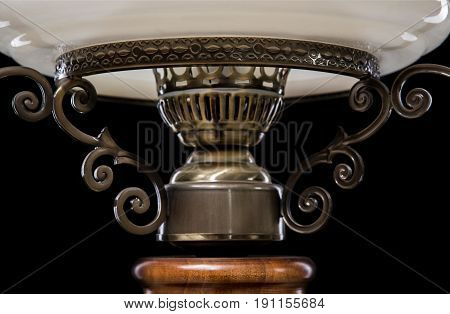 Classic chandelier details isolated on black background. chandelier for living room, bedroom, dinning room.