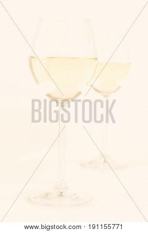 Glas of white wine - studio shot