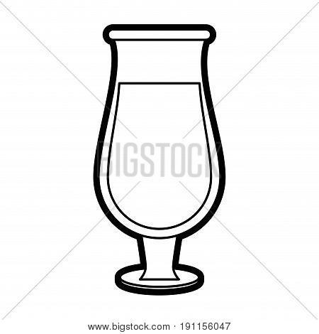 Refreshing liquor cocktail illustration icon vector graphic design silhouette