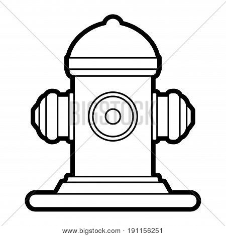 Fire hydrant use icon vector illustration desing graphic silhouette