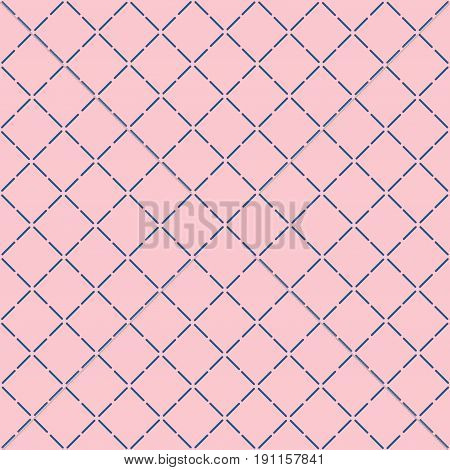 Modern stylish seamless pattern geometric background texture. Geometric simple peach pink beigeprint. Fashion modern fabric design. Vector illustration stock vector.
