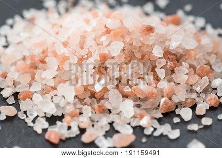 Himalayan Pink Crystal Salt. Pink Salt Background