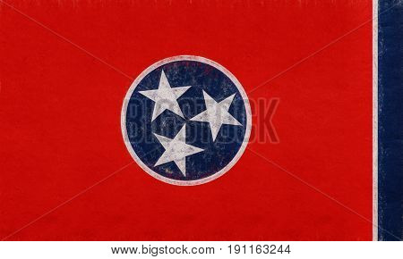 Flag Of Tennessee Grunge