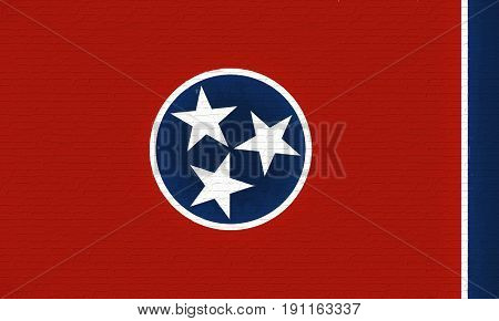 Flag Of Tennessee Wall