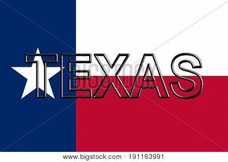Flag Of Texas Word