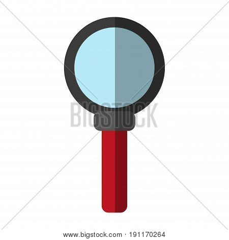 Magnifying glass looking for objects icon vector illustration design shadow