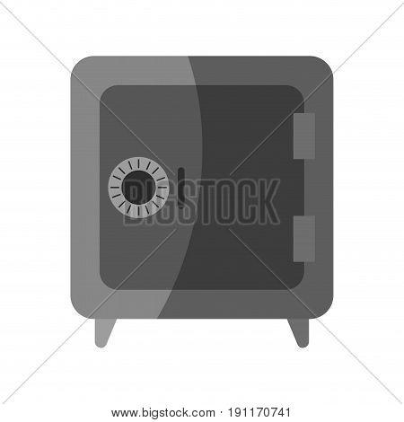 Closed security box icon vector illustration design graphic shadow
