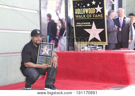 LOS ANGELES - JUN 12: Ice Cube at a ceremony as Ice Cube is honored with a star on the Hollywood Walk of Fame on June 12, 2017 in Los Angeles, CA