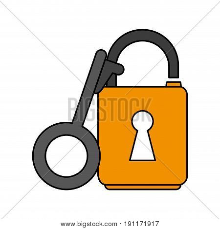 key lock open icon vector illustration design graphic flat