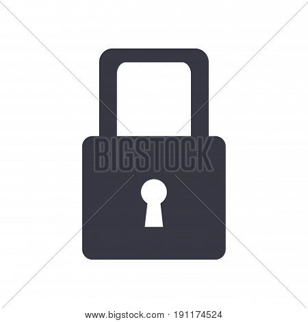 cyber security padlock access technology concept vector illustration