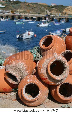 Fishing Pots In Terracotta