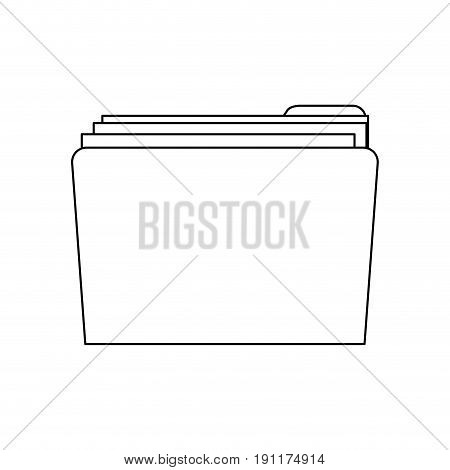 folder file document confidential data message vector illustration