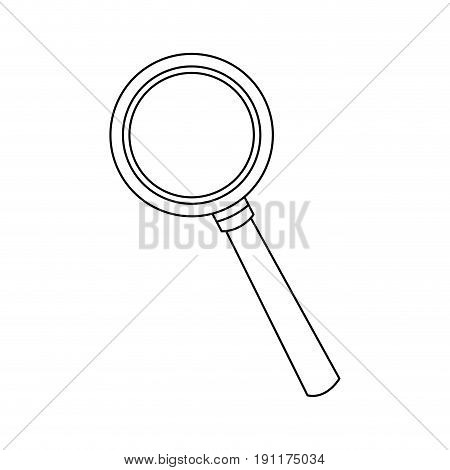 magnifying glass icon magnifier or loupe sign vector illustration