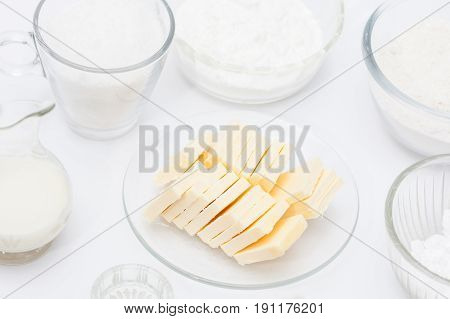 Butter Cookies Preparation :  Ingredients to prepare butter cookies